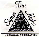 national federation of sigma tau alpha logo